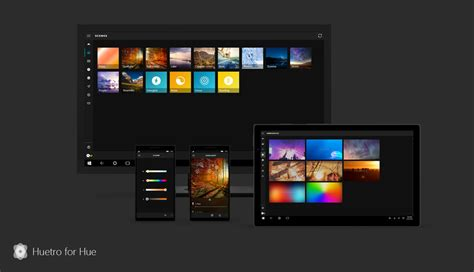 Huetro for Hue rewritten for Windows 10 PC and Mobile with
