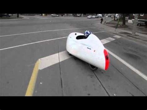 A velomobile is a human powered vehicle, generally a trike