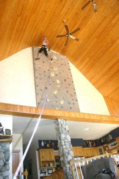 An architect designs and builds a home #climbing wall
