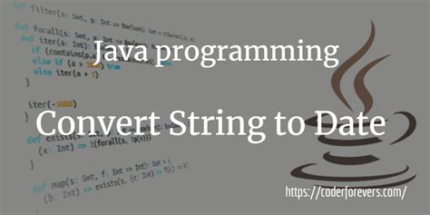 Java Program to Convert String to Date - coderforevers