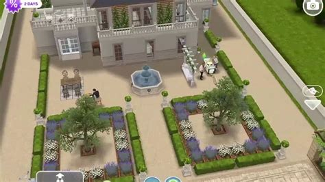 Sims freeplay Romantic french chateau (original house