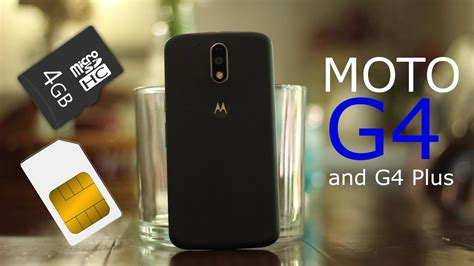 How to Insert SIM/SD Card to Moto G4 / G4 Plus - YouTube