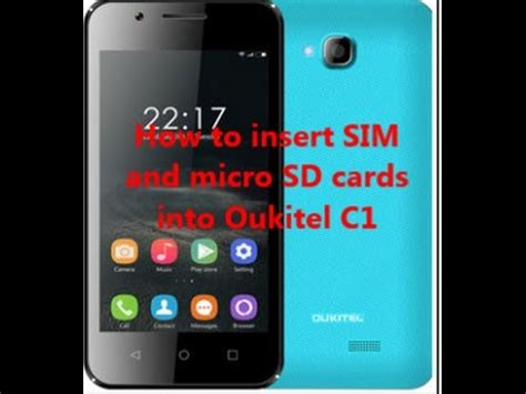 How to insert SIM and micro SD cards into Oukitel C1 - YouTube