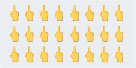 middle finger emoji finally thumbs   Gizmodo   Scoopnest