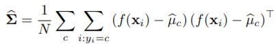 How Can I implement covariance of training samples by