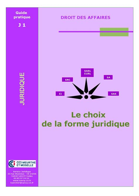 Choixdelaformejuridique by cci meuse - Issuu