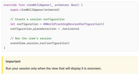 ios11 - ARKit - Issue with ARSession - Stack Overflow