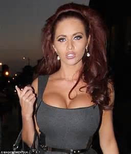 Amy Childs (just about) squeezes herself into another
