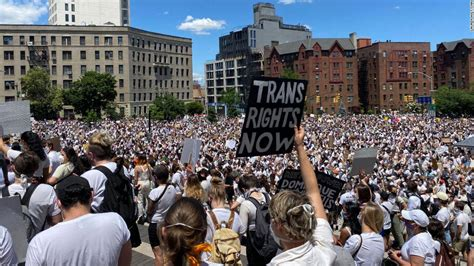 Thousands show up for black trans people in nationwide