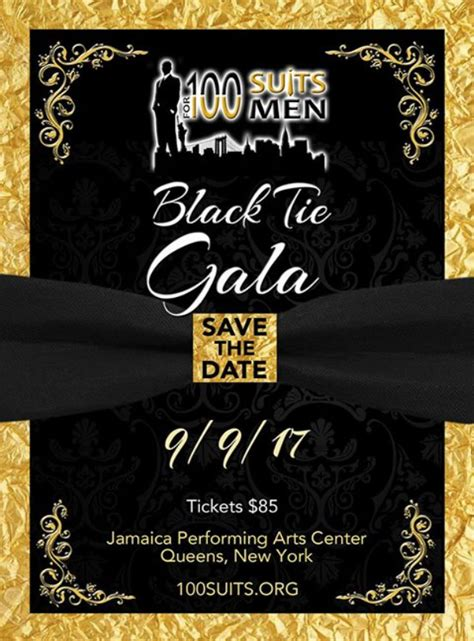 100 Suits for 100 Men's 2nd Annual Black Tie Gala – Jamaica311